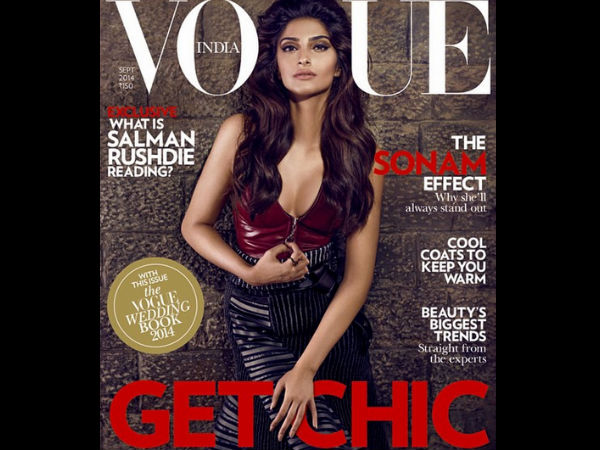 Cover Girl Sonam Kapoor Bares Hot Cleavage On Vogue