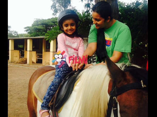 Horse Riding Aadya's Favourite Activity