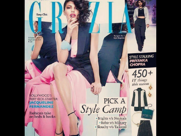 Jacqueline Fernandez Turns Fiery Hot On Grazia Cover