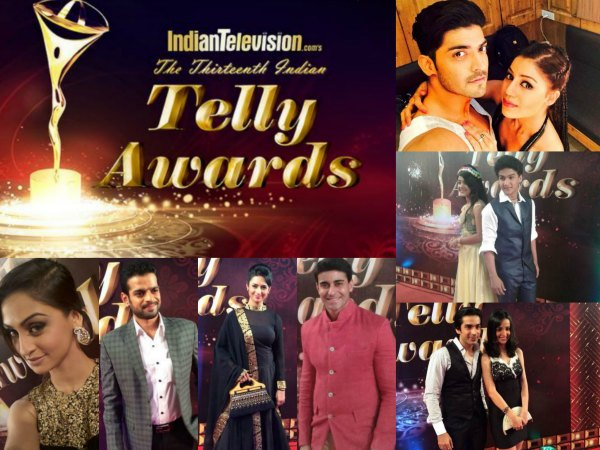 13th Indian Telly Awards 2014 - Celebs On Red Carpet