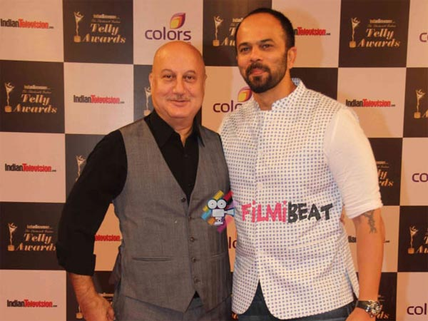 Rohit Shetty And Anupam Kher
