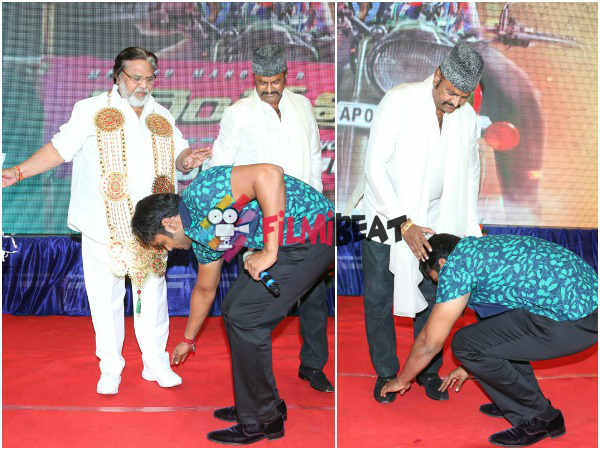 Mohan Babu Takes His Mentor Dasari's Blessings