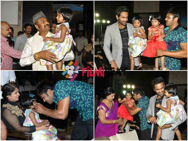Manchu Family At Current Theega Music Launch