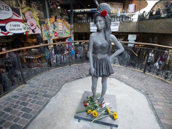 Amy Winehouse's Life-Size Bronze Statue Unveiled In London