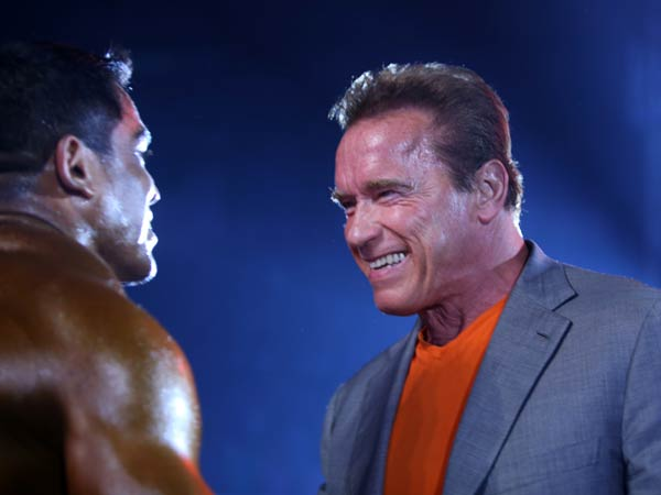 Arnold With A Bodybuilder