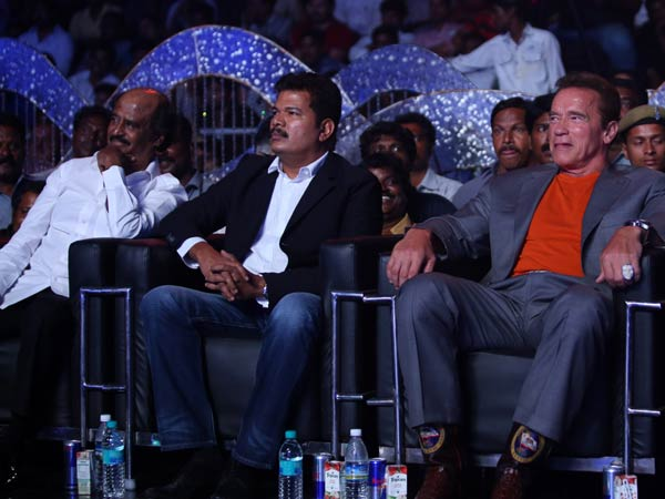 Rajinikanth, Shankar With Arnold