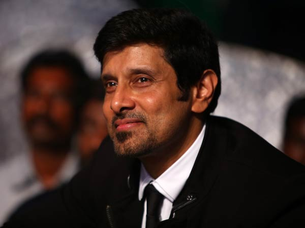 Vikram Spotted At I Audio Release Event
