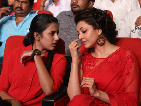 Niharika-Kajal Bonding At GAV Music Release