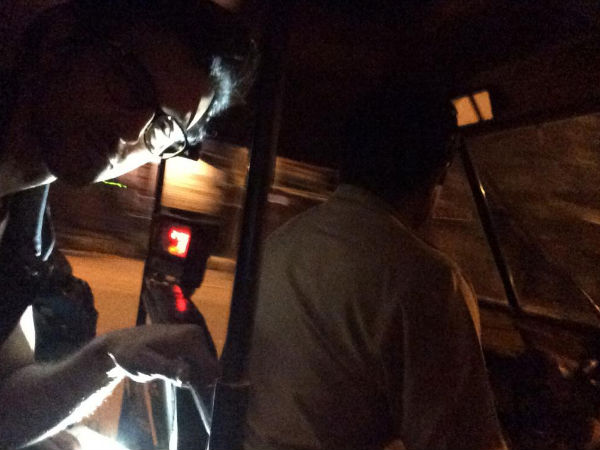 Pic: Hrithik Roshan's Car Gets Banged, Takes Auto Ride Home