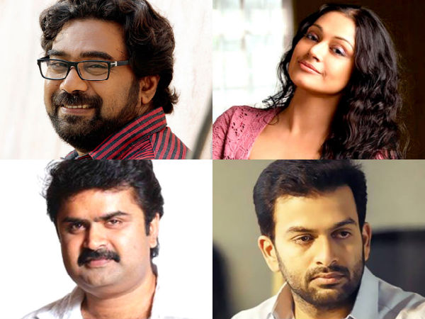 Prithviraj, Shobhana, Biju Menon And Anoop Menon In 'Pavada'
