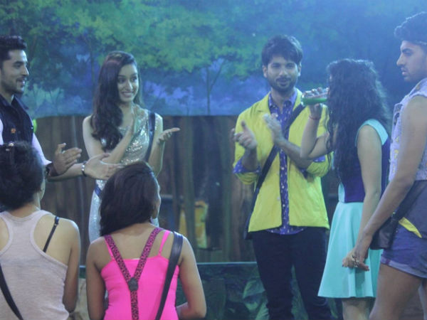 Shahid And Shraddha In Bigg Boss House
