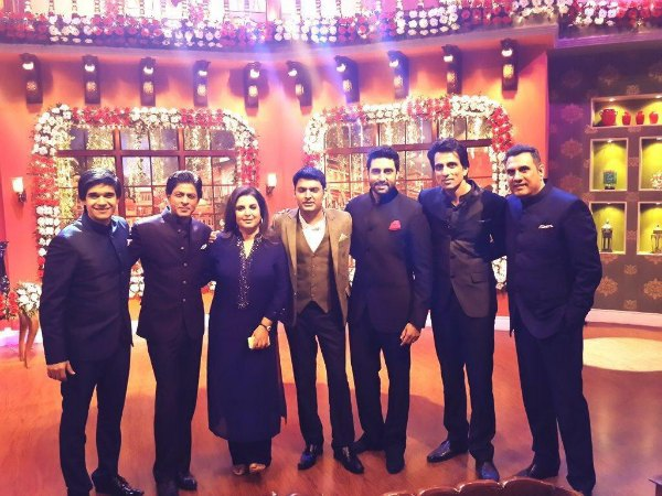 Shahrukh Khan's Happy New Year Team On Kapil's Comedy Nights!
