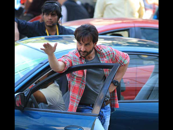 Saif Ali Khan Prepping For Car Crash Shot