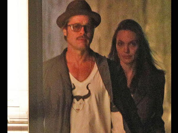 Brad Pitt Wears A Maleficent Sketched T-Shirt Drawn By Daughter, Vivienne