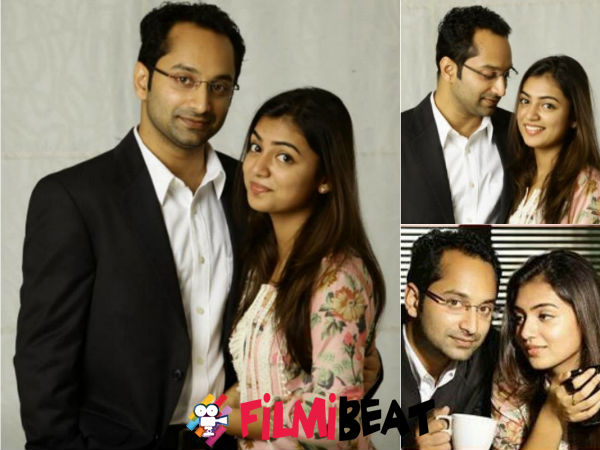 Nazriya Visits Fahadh On The Sets Of Isam