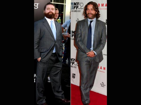 Zach Galifianakis Lost Oodles Of Weight, Shows A New Look At Birdman Premiere