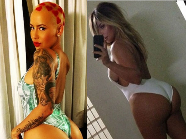 Amber Rose Is Giving Butt Competition To Kim Kardashian