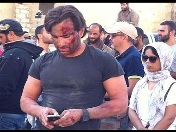 Saif In Wounded Look