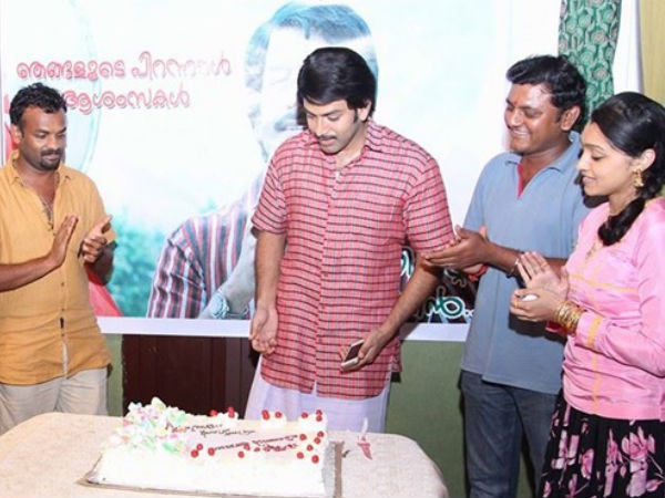 Prithviraj Celebrates Birthday On Sets