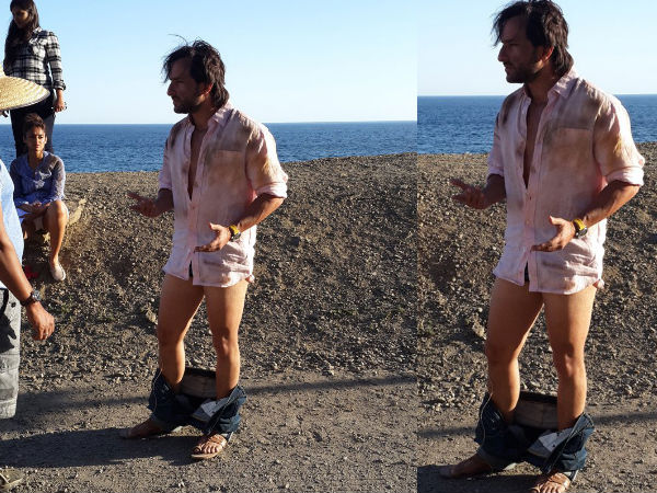 Pic: Saif Ali Khan Caught With His Pants Down