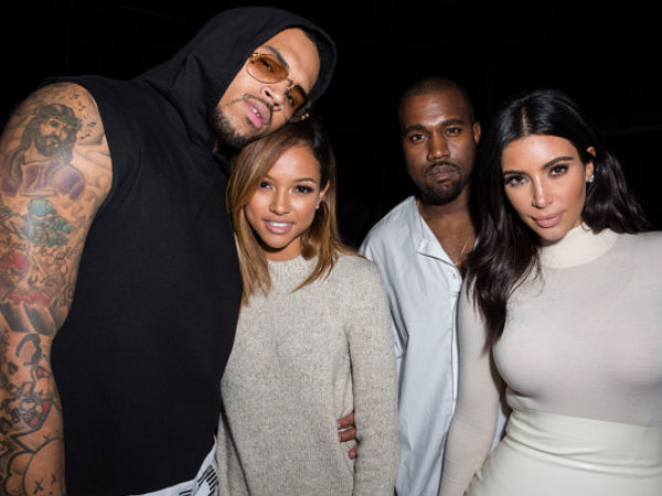 Double Fun: Kanye & Kim Bond With Chris & Karrueche