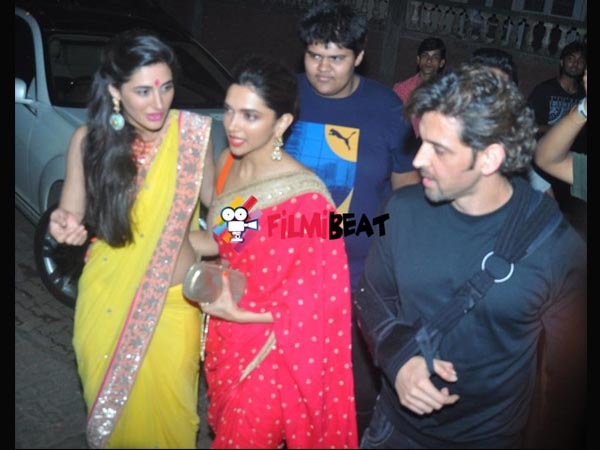 Hrithik With Deepika And Nargis