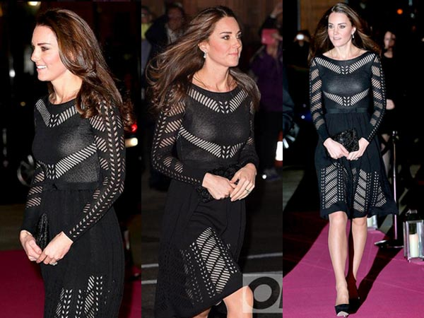 Pregnant Kate Middleton Flaunts Cute Baby Bump At Charity Gala Dinner