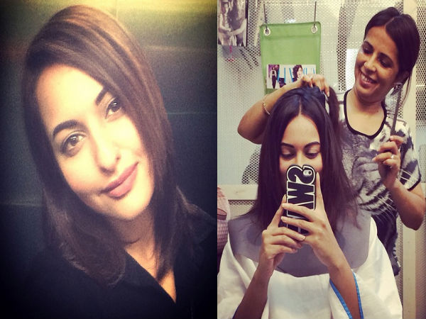 Pic: Sonakshi Sinha Gets A Hair Makeover, Chops Off Her Long Locks