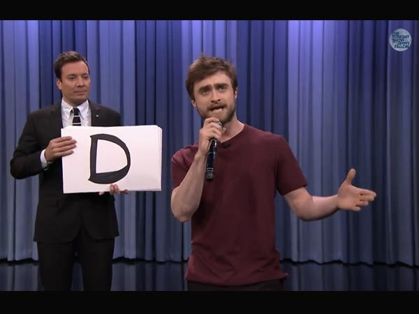 Daniel Radcliffe Shows Love For Music, Raps At 'Tonight Show'