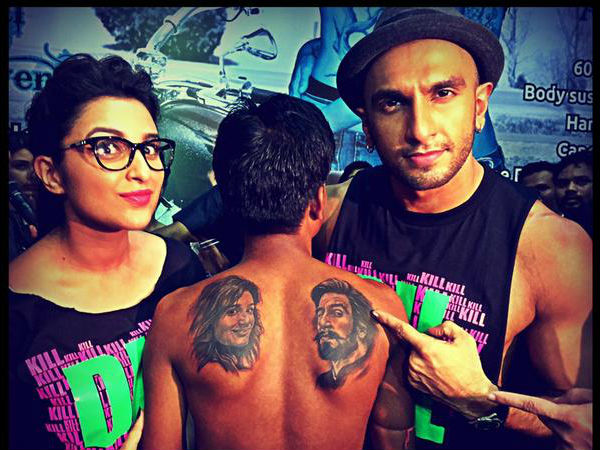 Crazy Fans Inks Tattoos Of Ranveer Singh- Parineeti Chopra