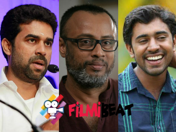 Nivin Pauly And Vijay Babu With Lal Jose
