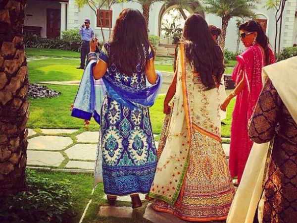 Arpita Khan Wedding Attire