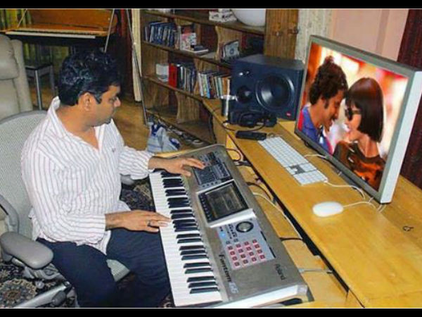 In Pics: A R Rahman Composing Music For I (Manoharudu)
