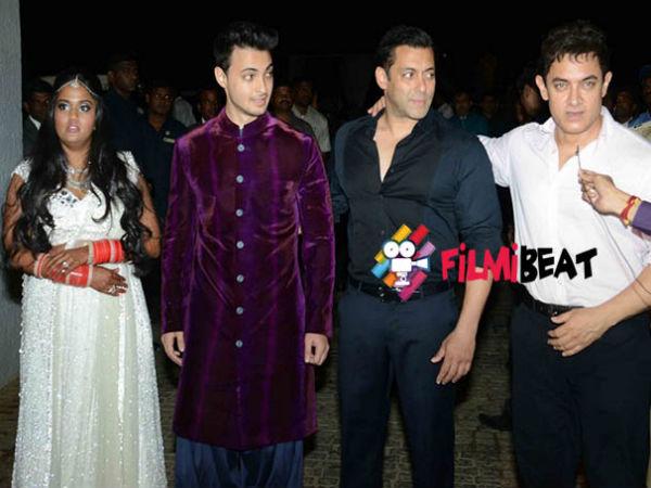 Aamir Khan Promotes PK At Arpita Khans Wedding
