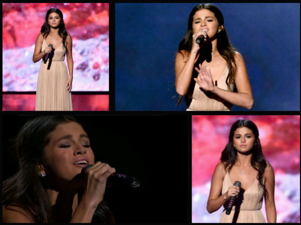 Selena Gomez Gets Emotional, Cries At AMAs 2014 Stage