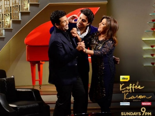 Abhishek, Farah's Gyan On Koffee With Karan - Never Trust A Man Without Chest Hair!