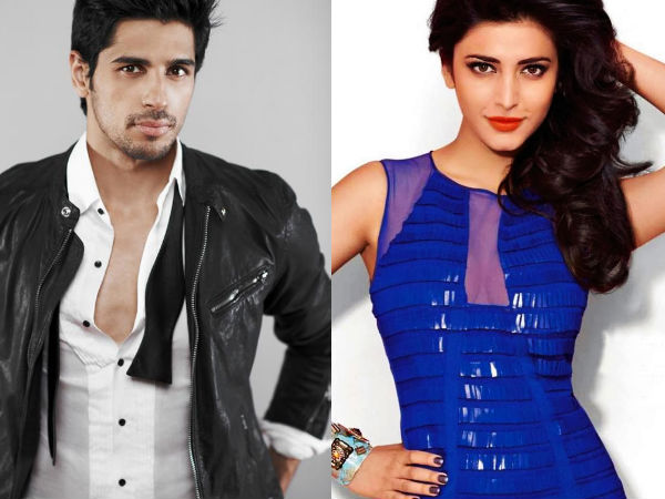 Shocking! Sidharth Malhotra Dated Shruti Haasan