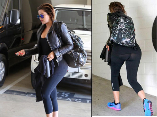 Khloe's Gym Outfit