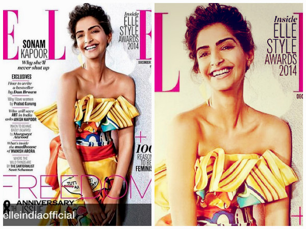 Pic: Hot Sonam Kapoor Never Shuts Up On Elle Cover