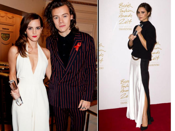 Victoria Beckham, Emma Watson Wins Big At British Fashion Awards 2014