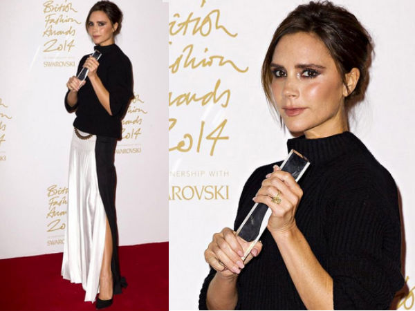 Victoria Beckham Got Emotional At British Fashion Awards 2014