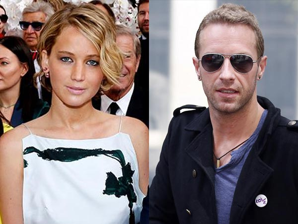 Chris Martin and Jennifer Lawrence