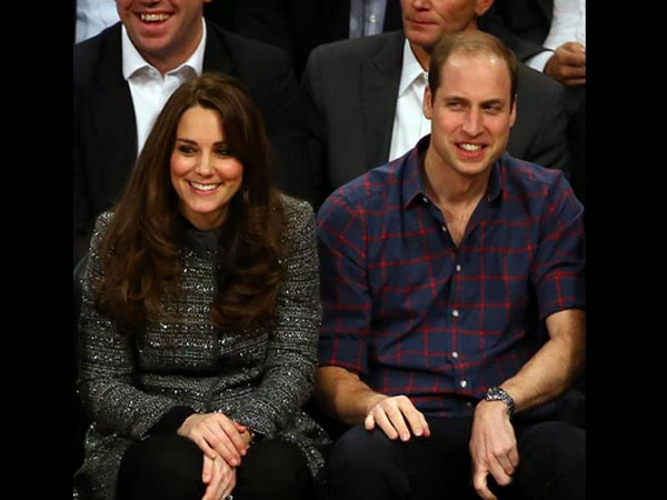 Kate Middleton & Prince William At NBA Game