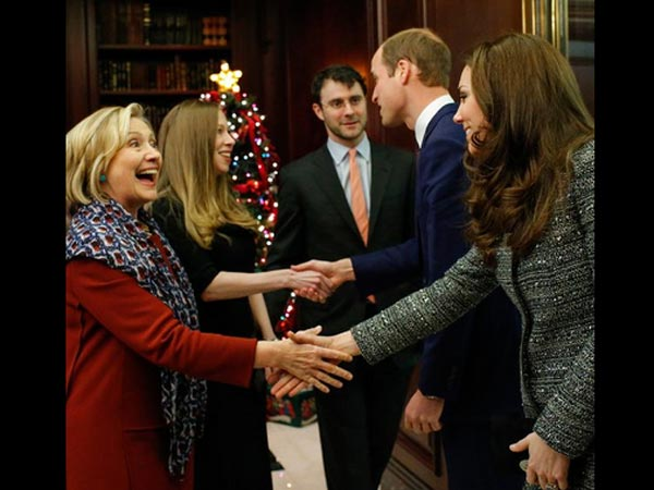 Meeting Hillary and Chelsea Clinton