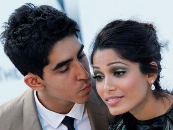 Frieda Pinto and Dev Patel