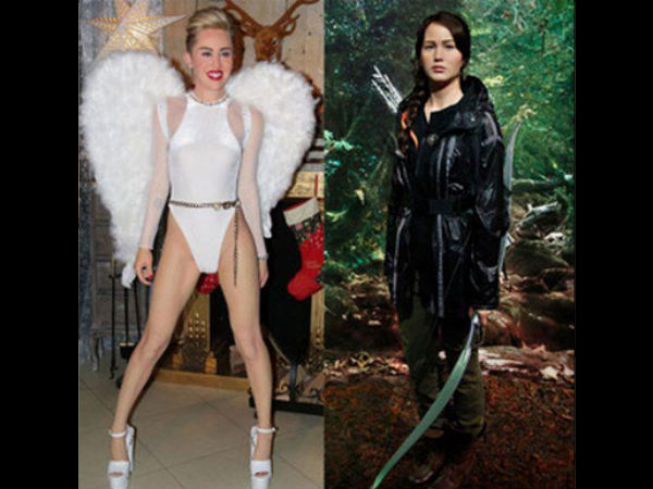 Jennifer Lawrence & Miley Cyrus' Wax Statues Unveiled