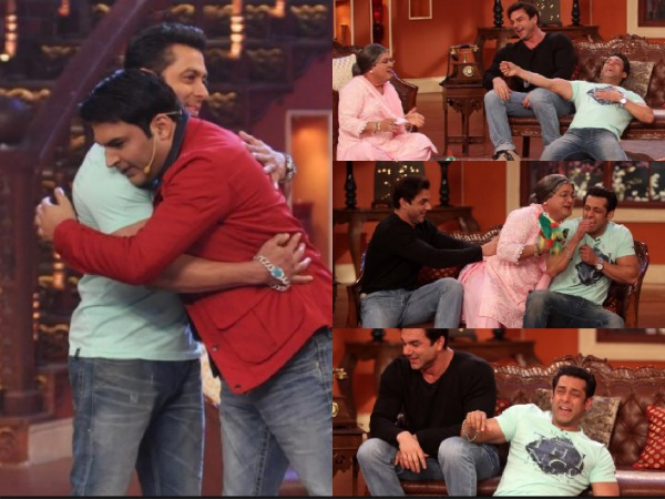 Kapil Sharma, Comedy Nights With Kapil's Cast On Bigg Boss 8 To Cheer Salman Khan!