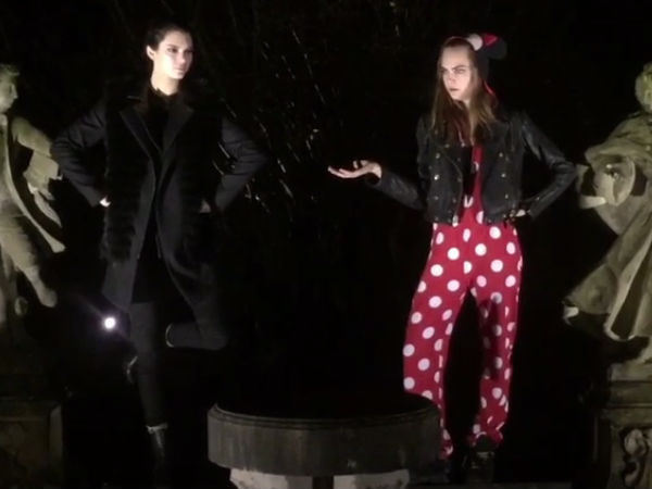 BFFs Kendall Jenner & Cara Delevingne's Christmas Video