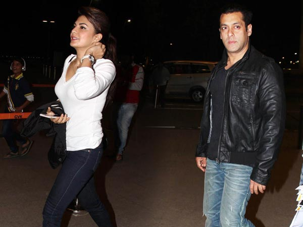 Caught: Salman Khan, Jacqueline Leave Together For Columbia Trip
