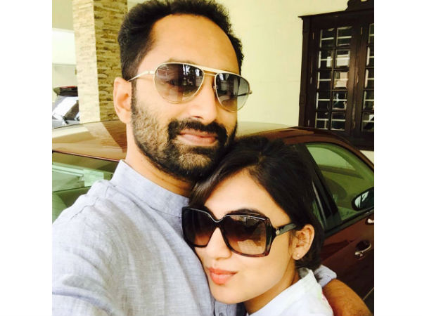 With Hubby Fahadh
